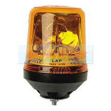 12v/24v Single Bolt Mounted Rotating Halogen Amber Beacon